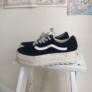 EOS platform sneakers vans style 37 blue white